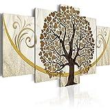 murando Quadro 200x100 cm 5 pezzi Stampa su tela in TNT XXL Immagini moderni Murale Fotografia Grafica Decorazione da parete albero amore ornamento astratto b-C-0073-b-n
