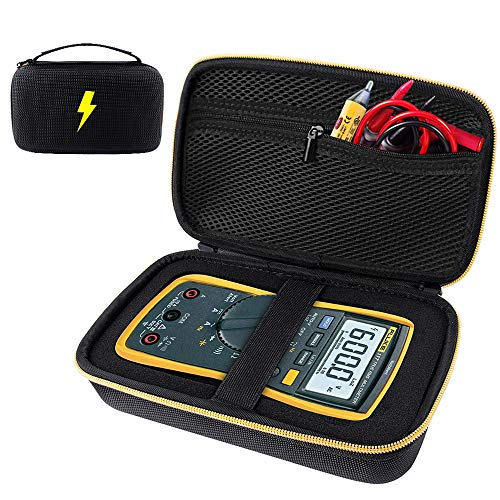 Case Compatible for Fluke 117/115/ 116/ 87V/ 88V/ 101, Also Fit Crenova MS8233D/ Neoteck 8233D PRO/AstroAI TRMS 6000 Counts Volt Digital Multimeter and More with DIY Foam