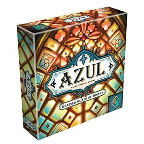 Juegos de mesa de rompecabezas AZUL Juego de juegos de mesa Juego de cartas de vidrieras de Portugal Juego de mesa de rompecabezas interactivo para niños adultos 2-4 jugadores (versión en inglés)