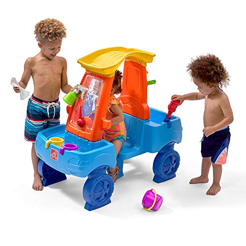 Step2 Car Wash Splash Center | Kids Outdoor Water Table Toy | Pretend Play Car Wash Toy