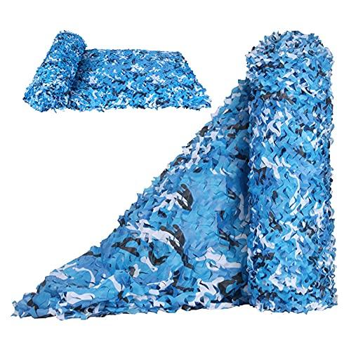 ZXCVBAS Tarnnetz,Tarnnetze,Camouflage Net Blue Camo Netting Sonnenschutznetze Zur Dekoration Camping Car Covers Strand Sonnenschirm 2X3m 2X4m 2X6m 3X3m 3X4m 4X6m 5X8m 8X10m,6 * 7m(19.69 * 22.97ft)