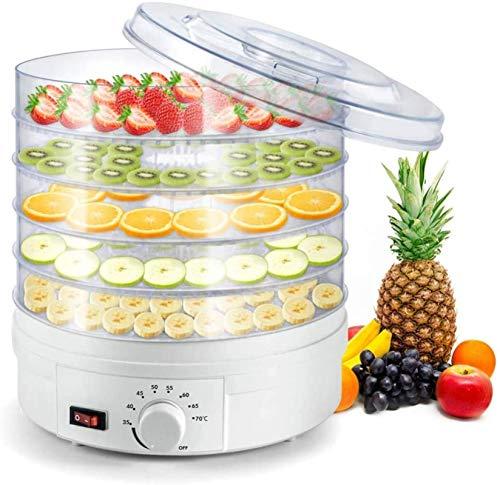 ZLSP Deshidratador for la Fruta de los Alimentos - Máquina de deshidratación de Frutas secas de Frutas de Frutas de Fruta de alimento eléctrico con 5 bandejas apilables