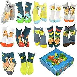 8. DoodleUS PBS Kids Dinosaur Train Socks Gift Box Set (6 Pairs)