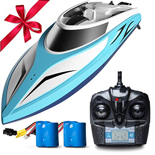 Force1 Remote Control Boats for Pools & Lakes - H102 Velocity Fast RC Boat for Adults & Kids with Self Righting Brushless Speed Boat Remote Control