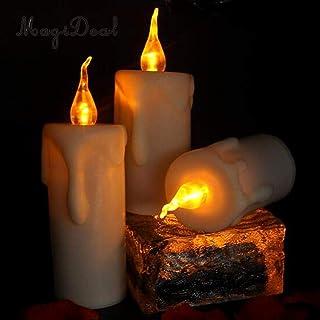 PatyHoll 12個 フレームレスキャンドル ティーライト LEDキャンドル ちらつきクリスマスデコレーション