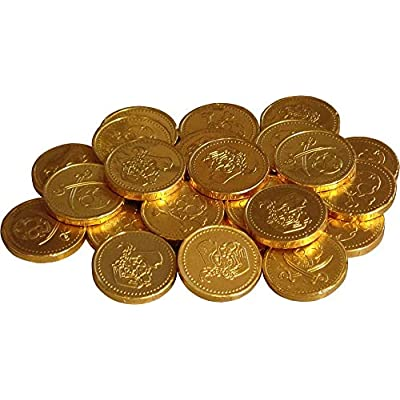 50 x gold foil pirates themed milk chocolate money coins loot, party bag fillers, pinata prizes, easter egg hunts 50 x Gold Foil Pirates Themed Milk Chocolate Money Coins Loot, Party Bag Fillers, Pinata prizes, Easter Egg Hunts 51RDWS cPML