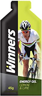 Winners Sports Nutrition Lemon and Lime Energy Gels, Pack of 24 (6 boxes x 4 gels)
