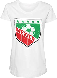 Mexico Crest - Soccer Futbol Sports Side Ruched Maternity T-Shirt