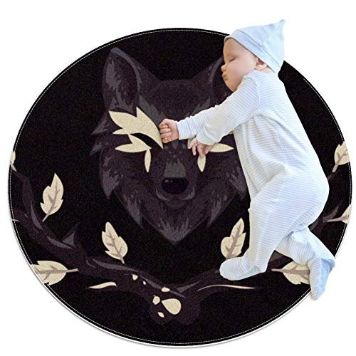Flower Wolf Baby Play Mats - Baby Crawling Mats for Boys and Girls - Children's Room Decor for Play Carpet Floor Carpets
