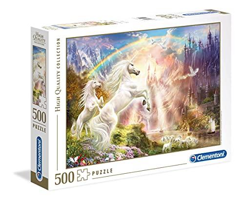 Clementoni- Puzzle 500 Piezas Puesta de Sol con Unicornio, Multicolor (35054.4)