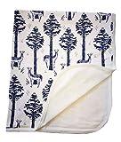 Igi Natur Babydecke Bio-Baumwolle GOTS Double-Layer-Baby Decke Krabbeldecke Kuscheldecke Schmusedecke Velourstoff 85x100cm (Mountain-Winter)