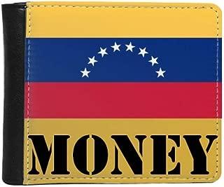 Venezuela National Flag South America Country Money Wallet Purse Flip Bifold Faux Leather Multi-Function