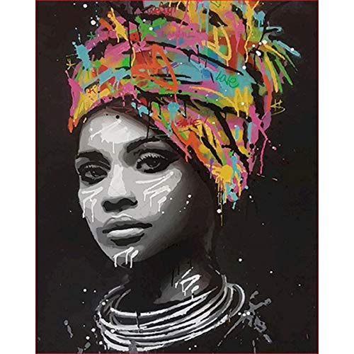 Pintura de bricolaje por números, pendiente de perlas, pintura de niña por números para adultos, imagen de lechera, decoración de pared, arte A3 40x50cm