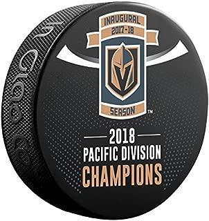2018 Vegas Golden Knights Pacific Division Champions Inaugural Season Souvenir Hockey Puck