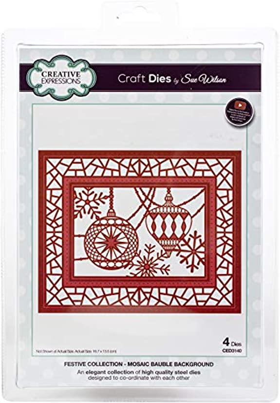 Creative Expressions CED3140 Festive Craft Dies by Sue Wilson, Netted Star Background