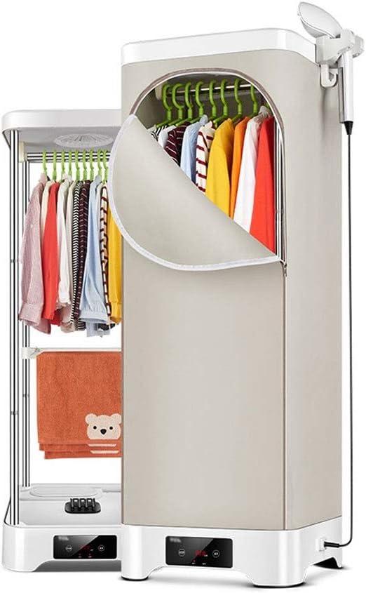 Secadora de ropa y máquina de planchado, Estéreo doméstico de secado rápido La suspensión de elevación plegable doble puede termostatizarse para máquina de cuidado de ropa de doble uso, carga 30kg, 90