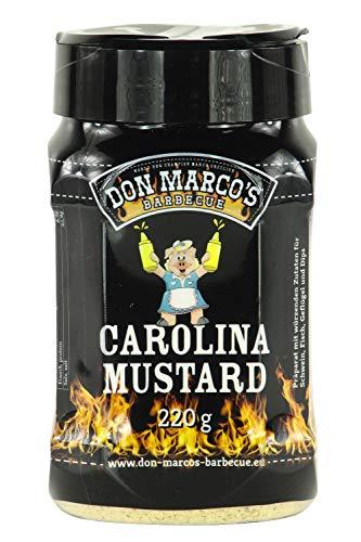 Don Marco's Barbecue Rub Carolina Mustard 220g in der Streudose, Grillgewürzmischung