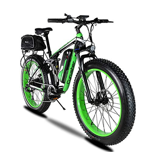 1000W 48V 13A Eléctrico Off Road Bike Extrbici® XF800 Electric ATV Limited Selling Worldwide Carga USB Soporte Suspensión completa y Smart Code Table & Fat Tire 26 x 4.0