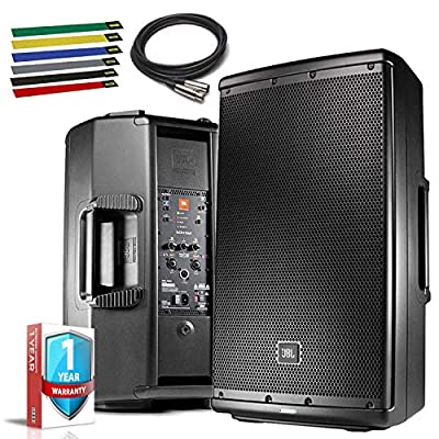 """JBL Professional EON612 Portable 12"""" 2-Way Multipurpose Self-Powered Sound Reinforcement Speaker with 10ft XLR, Cable Ties and 1-Year Warranty from JBL"""