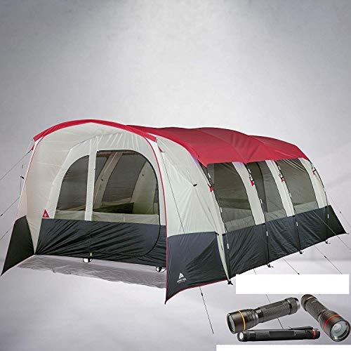 Hazel Creek 16 Person Tunnel Tent Bundled with Free Flashlight