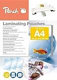 Peach Laminierfolien A4, 125 mic, PP525-02, 100 Stück