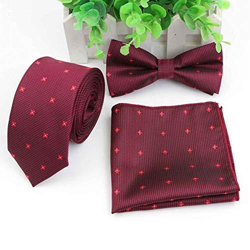 KJFUN Conjunto De Corbata De Camuflaje para Perros Conjunto De Corbata para Hombre Corbata Fina Corbata De Moño Pañuelo Traje Corbatas Corbata Mariposa