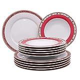 KAHLA 4043982290546 Sternenflirt Weihnachten Weihnachtsdekor Tellerset 12-teilig für 6 Personen
