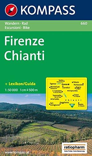 Carta escursionistica n. 660. Toscana, Umbria, Abruzzi. Firenze, Chianti 1:50.000