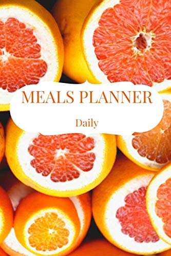 Meals Planner Daily: Menu Planning Pages with Daily Grocery Shopping List