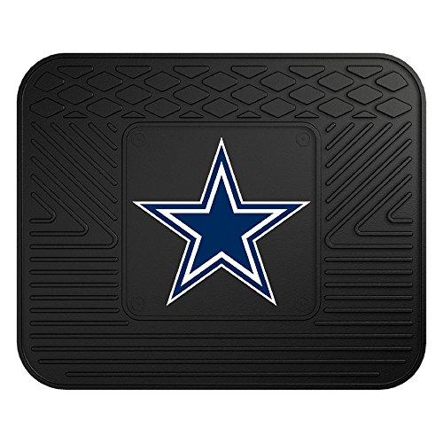 "FANMATS NFL Dallas Cowboys Vinyl Utility Mat , 14""x17"" - 9999,Black"