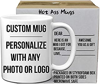 Custom Do It Yourself Mugs DIY Custom and Create any Personalized Photo Picture Coffee Mugs   Add Your Own Photo or Image   No Minimums - Double Sided   11 Ounce White Custom Coffee Mug