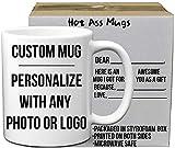 Custom Mugs DIY Personalized Coffee Mugs with Elegant Quality Photo and Text Printing   11 Oz White Ceramic Coffee Mug   Tazas Personalizadas - Design Your Own Custom Coffee Mug Gift for Any Occasion