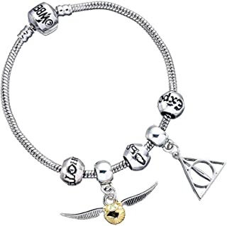 Bracelet Harry potter  balle magique le Vif d/'or Quidditch  ailes argent