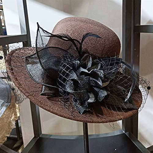 WENLI Sombrero UV De Verano para El Sol De ala Ancha Gra...