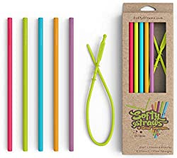 Softy Straws Reusable Silicone Straws
