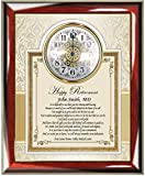 AllGiftFrames Retirement Gift Clock Frame Personalized Best Wishes Clock Retiree Coworker Employee Friend Boss Poetry Colleague Service Award Recognition Plaque Clock
