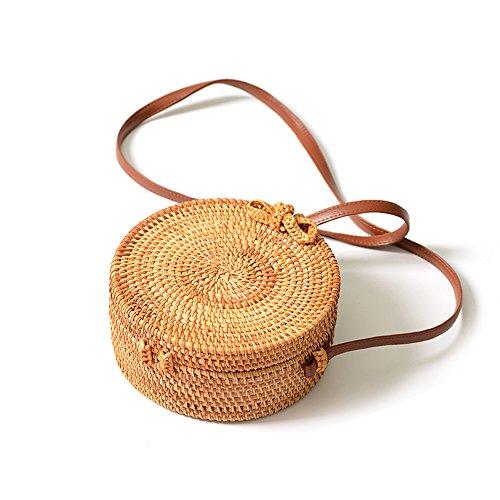 Bolso de bambu redondo