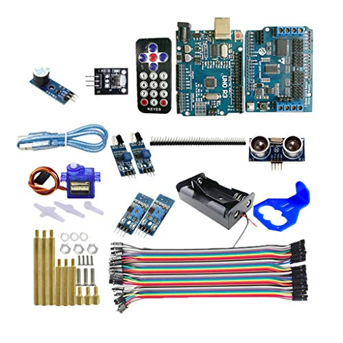 Unbekannt RC Self Tracking R3 Controller Board Kit Für Robot Car Chassis Arduino DIY