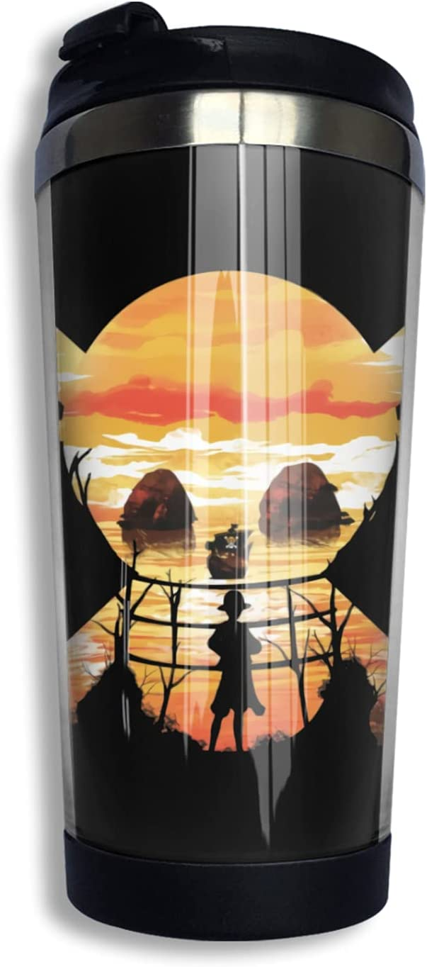 One Piece D Luffy Anime mart Coffee Cup Co 3d Funny Detroit Mall Print Mug Thermos
