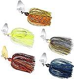 5 señuelos de pesca Spinner señuelos cebo conjunto aparejos de pesca cebo Spinners kit mar pesca señuelos con barba ojos 3D ganchos para agua dulce agua salada