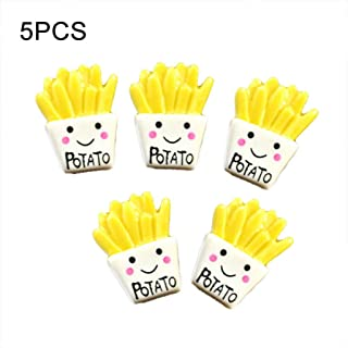 XKSIKjian's Stationery, French Fries Polymer Slime Modeling Clay DIY Kit Accessories Box Toy for Kids School Student Office Supplies - 5pcs