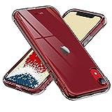 【ONES】 iPhone XR ケース 半透明·黒 耐衝撃 超軍用規格 『エアバッグ、半密閉音室、Qi充電』〔滑り止め、すり傷防止、柔軟〕〔美しい、光沢感、軽·薄〕 衝撃吸収 HQ·TPU 高級感 カバー