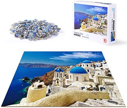 Jigsaw Puzzle for Adults 1000 Pieces ACSTEP Santorini Church Adult Jigsaw Puzzles Educational product image