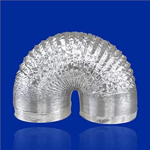 CHUTD Schlauch Küche Dunstabzugshaube Bad Abluftventilator Abluftrohr Aluminiumfolie Teleskopdurchmesser 15,3 cm (Größe: 5 m)