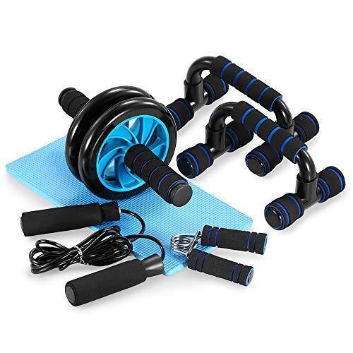 HCCX 5 En 1 AB Sistema De Rueda Juego De Herramientas-Push-Up/Saltar Cuerda De Saltar Grasping De Equipos Deportivos-Adecuado para Caseros De La Aptitud Deportes De Equipo