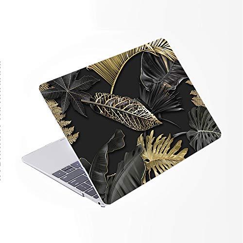 SDH Solo compatible con MacBook Pro de 13 pulgadas modelo A1278 CD-ROM a principios de 2012-2008,funda para portátil y cubierta de teclado degradado, hermosas hojas 8