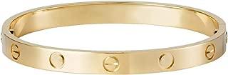 Love Bracelets for Couples lovers Gift with Screw Buckle Gold Bracelet Rose Gold Bracelet Silver Bracelet Valentines Wedding Bracelet Gift