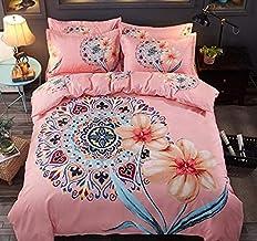3D Parure de lit Set de Housse de Couette en Rose Taille (220x240cm), Ensemble 3 pièces, 1 Housse de Couette + 2 taies d'o...