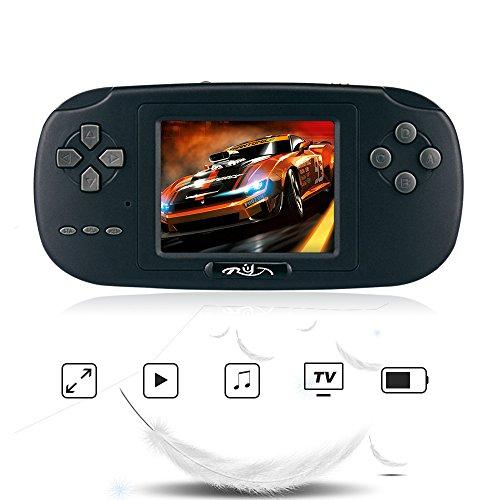 Rongyuxuan Consola de Juegos de Mano, Mano Consola 2.8 'LCD PVP Plus Juego de Jugador Clásico Consola de Juegos de Mano 168 Juegos en 1 USB Carga Regalo para Niños