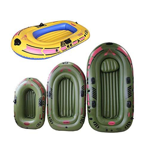 Kathariiy Schlauchboot für 1/2/3 Personen, Raft Up Set mit Rudern und Fußpumpe, treibendes Tauchboot zum Angeln und für andere Unterhaltung